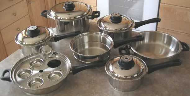 Stainless Steel Cookware Waterless Cookware